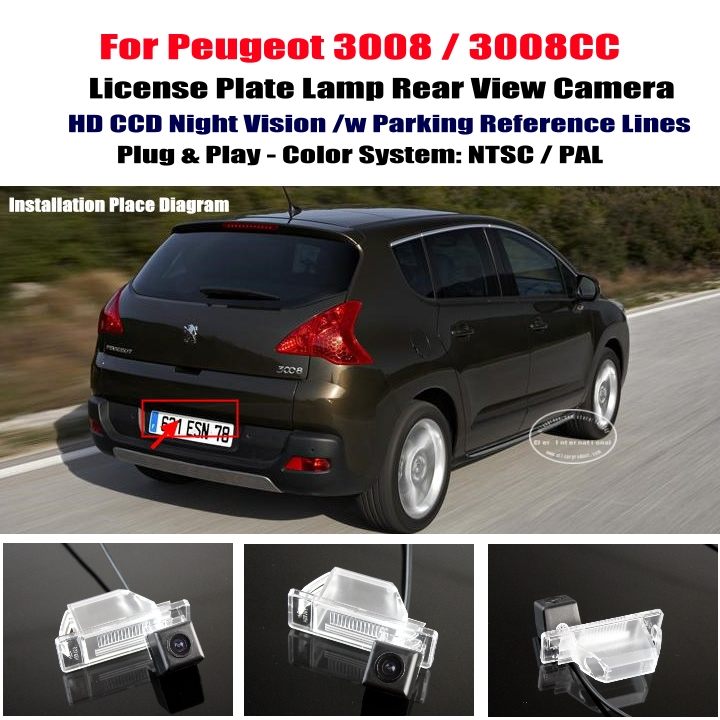 cheap peugeot 3008 3008cc car rear view camera reverse camera back up camera parking. Black Bedroom Furniture Sets. Home Design Ideas