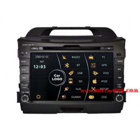 Wholesale KIA Sportage-R 2011~2012 - Car Stereo DVD Player GPS Navigation Radio HD MFD Screen 2-Core System