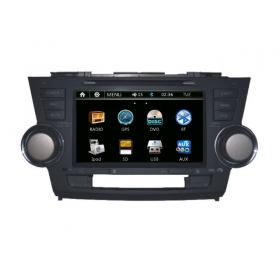 Wholesale Toyota Highlander 2007~2013 - Car Radio DVD Player GPS Navigation Advanced A5 System