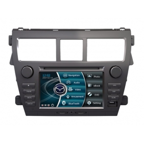 Wholesale Toyota Vios 2007~2012 - Car Stereo DVD Player GPS Navigation Radio HD MFD Screen 2-Core System