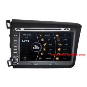 Wholesale Honda CIVIC 2012~2013 - Car Stereo DVD Player GPS Navigation Radio HD MFD Screen 2-Core System