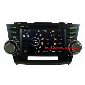 Wholesale Toyota Highlander 2007~2013 - Car Stereo DVD Player GPS Navigation Radio HD MFD Screen 2-Core System