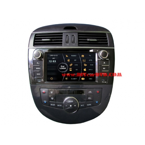 Wholesale Nissan Tiida 2011~2013 - Car Stereo DVD Player GPS Navigation Radio HD MFD Screen 2-Core System