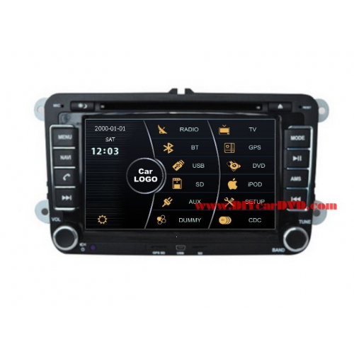 Wholesale VW Golf Wagon 2010~2012 - Car Stereo DVD Player GPS Navigation Radio HD MFD Screen 2-Core System
